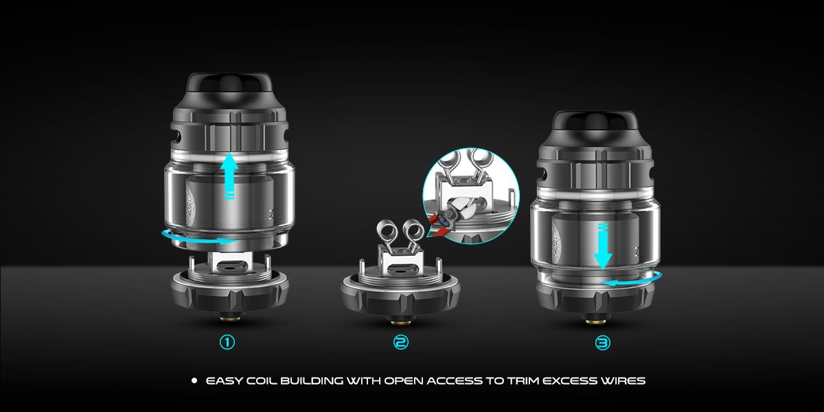 Geekvape Zeus X RTA Build Deck