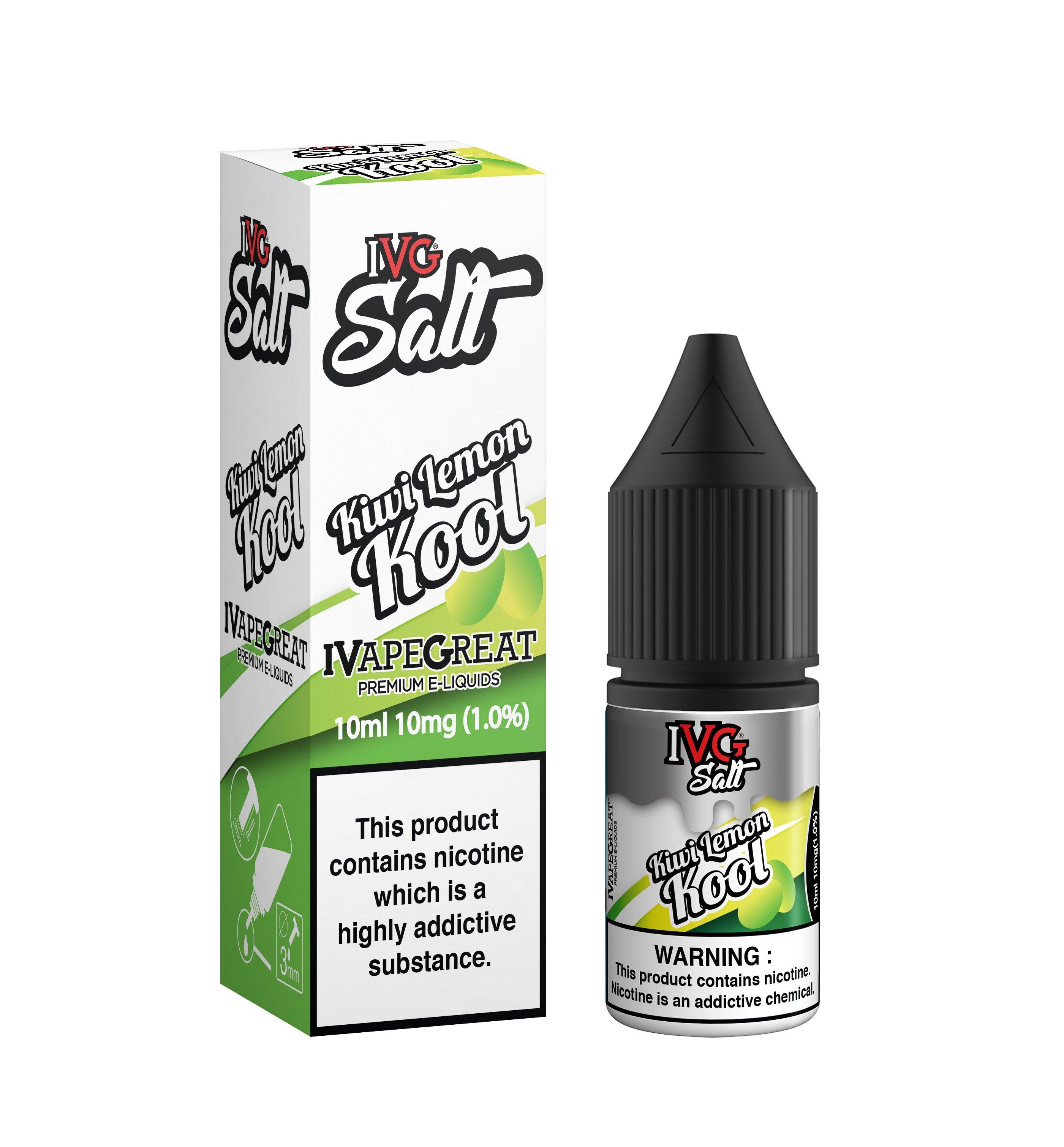 Kiwi Lemon Kool IVG Nic Salt UK