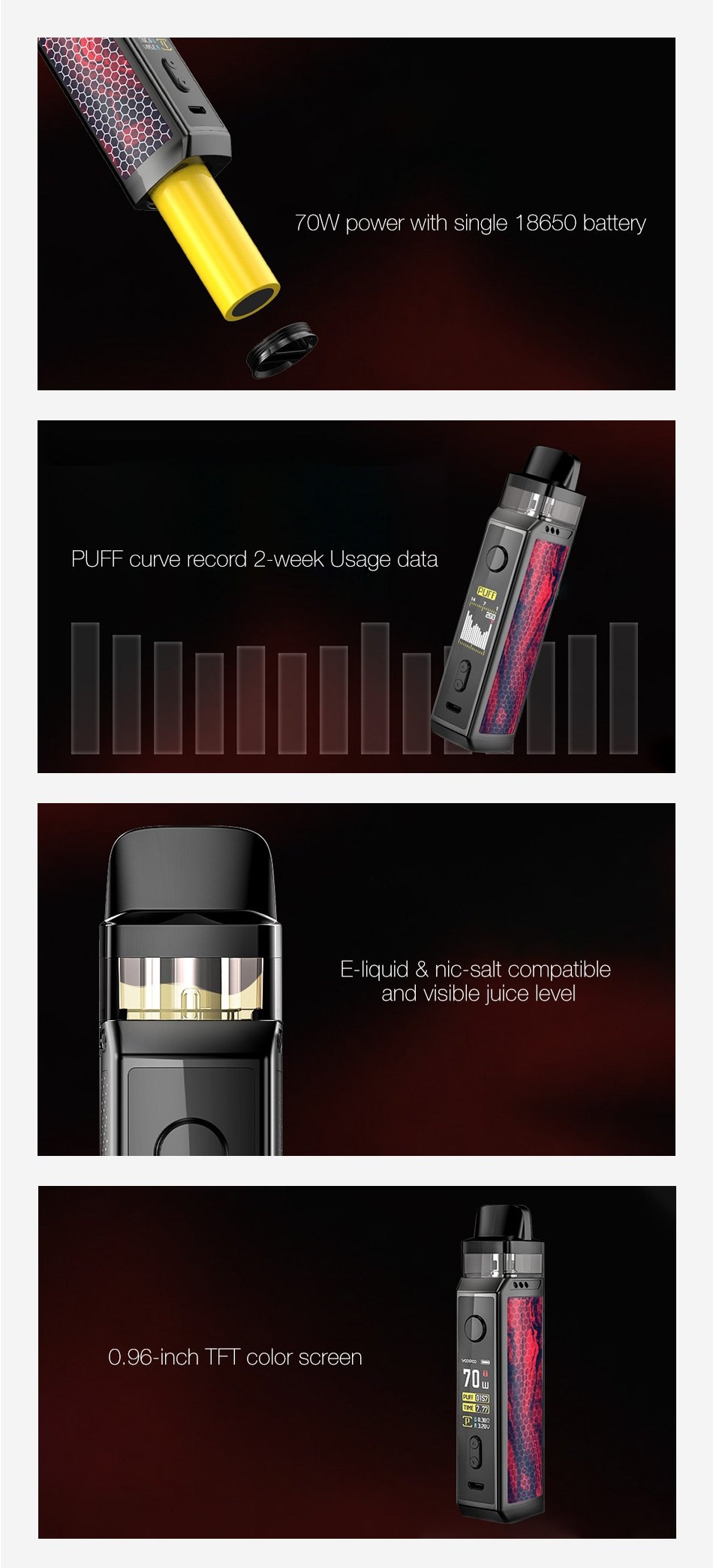 Voopoo Vinci X Pod Kit Features