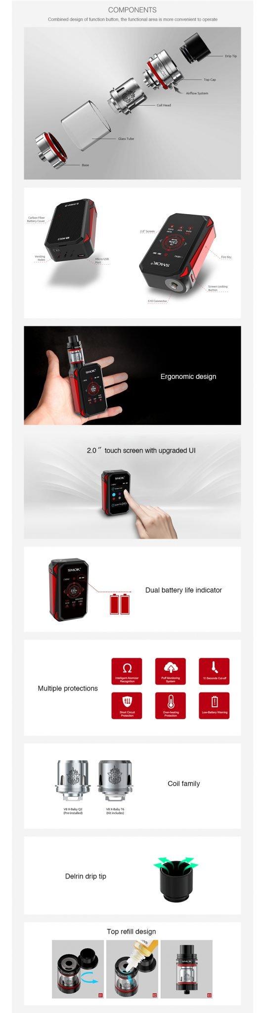 Smok G Priv 2 Kit UK Components