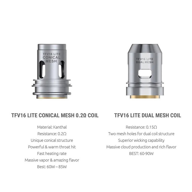 Smok TFV16 Lite Mesh Coils UK