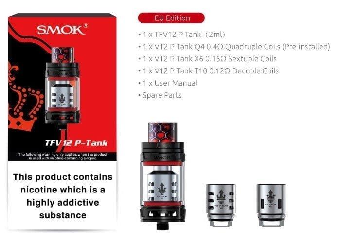 Smok TFV12 P Tank Contents LOV UK