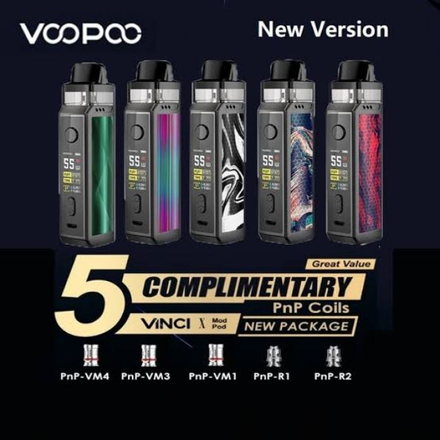 Voopoo Vinci X Pod with Coils UK