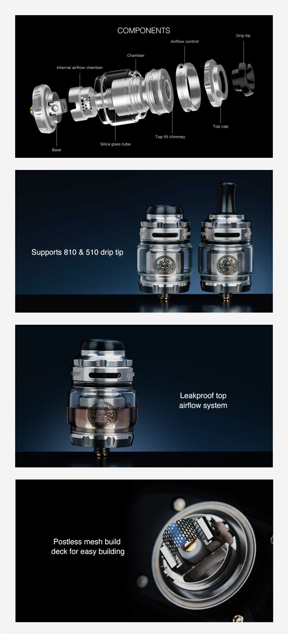 Geekvape Zeus Mesh RTA UK Features