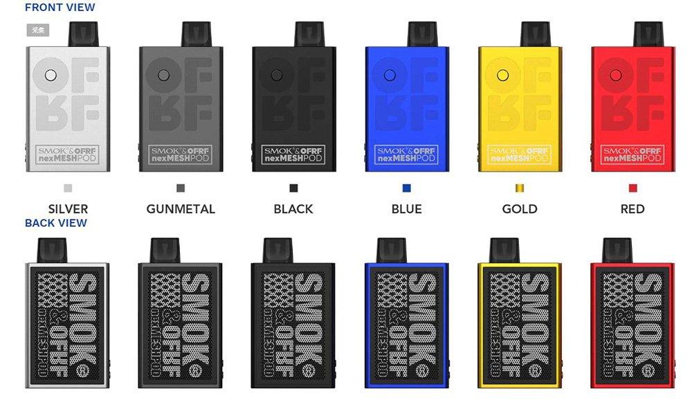Smok OFRF NexMesh Pod Kit Colours UK