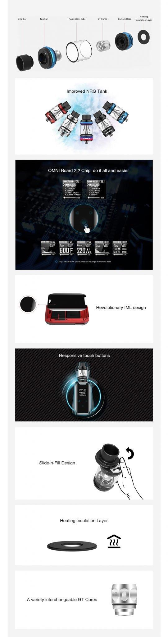 Vaporesso Revenger X Kit Features UK