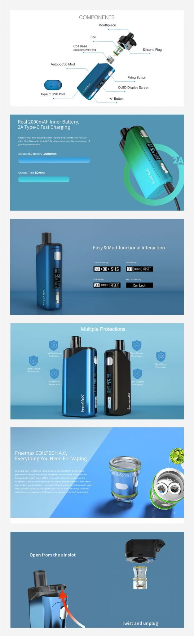 Freemax Autopod50 Features UK