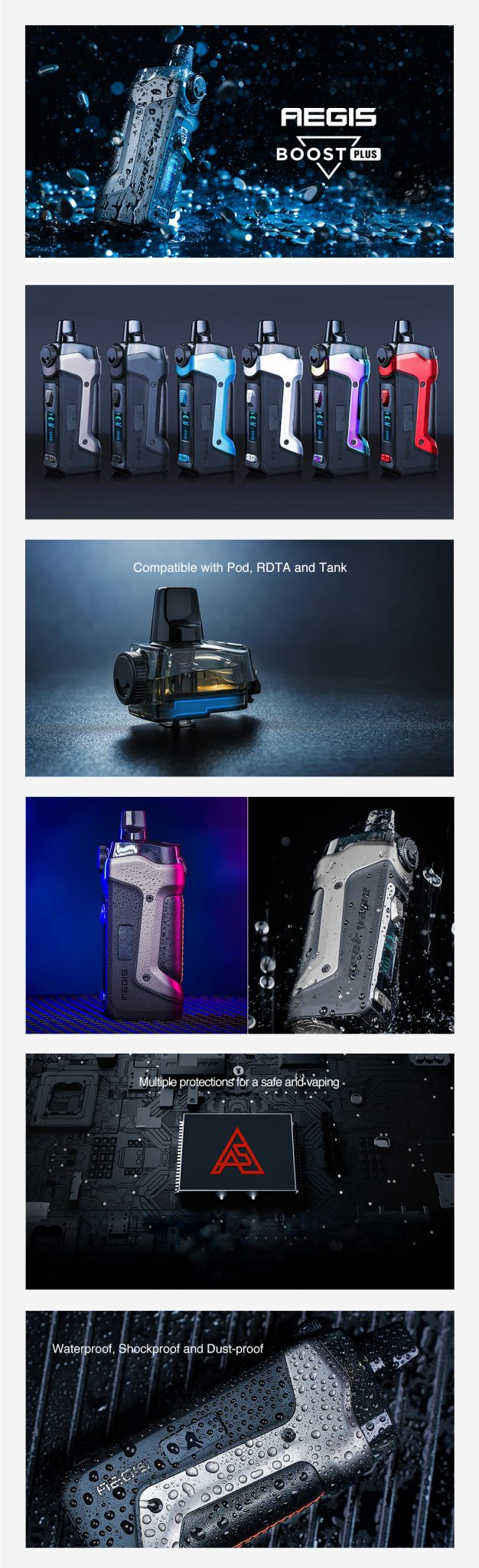Geekvape-Aegis-Boost-Plus-40W-3-in-1-Pod-Kit-features