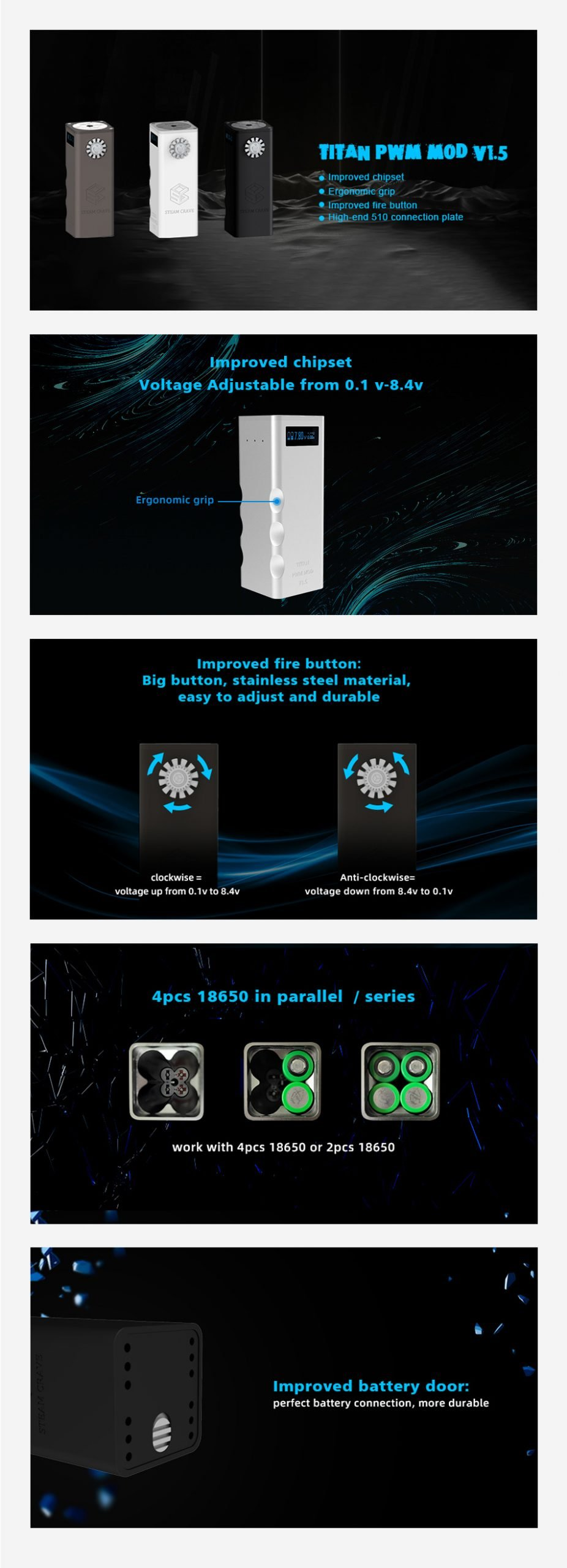 Steam-Crave-Titan-PWM-VV-MOD-V1.5-Features