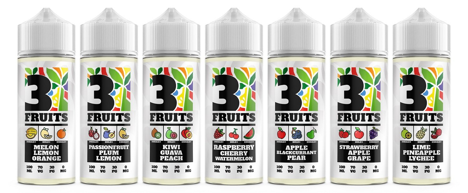 3 Fruits eLiquid UK Flavours