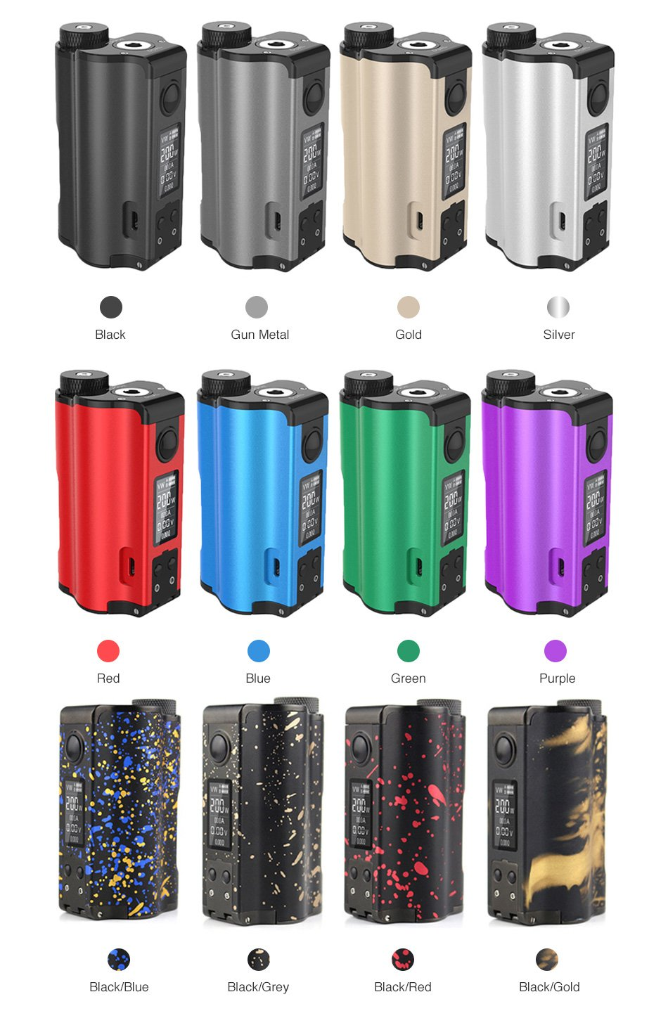 DOVPO-Topside-Dual-200W-Top-Fill-TC-Squonk-colours-UK