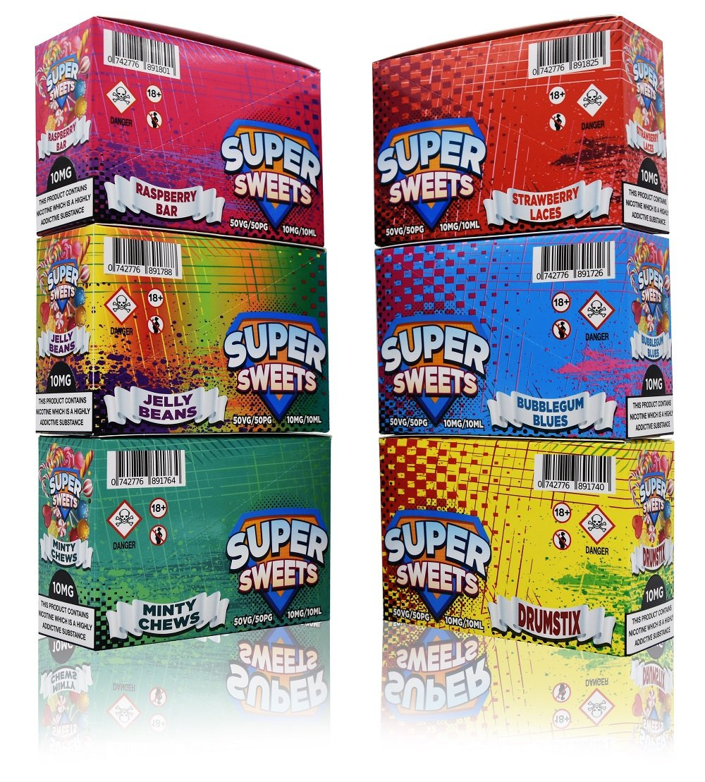 Super Sweets Nic Salt Full Range Flavours UK