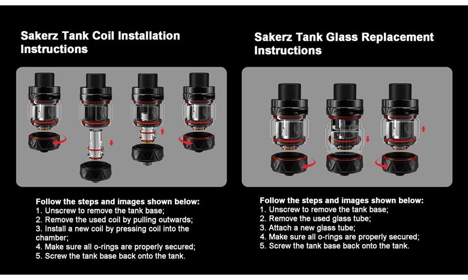 HorizonTech Sakerz Tank Coil Instruction UK